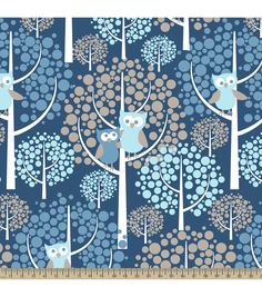 Forest Owls BlueForest Owls Blue,