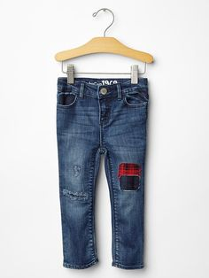 Loving this patchwork denim for kids. so on trend!