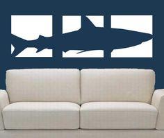 Shark Panel Vinyl Wall Decal Vinyl art 3 by MommyofTyDesigns, $41.00
