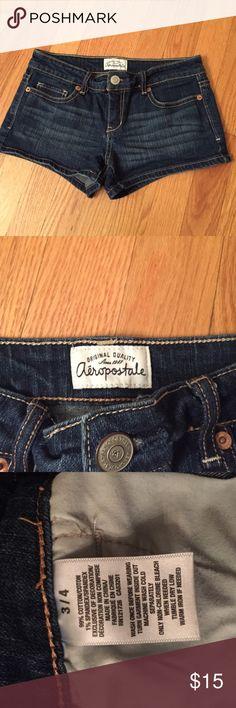 Aeropostale Short Jean Shorts Hardly worn Aeropostale Jean shorts. No rips, tears, or stains. Aeropostale Shorts Jean Shorts