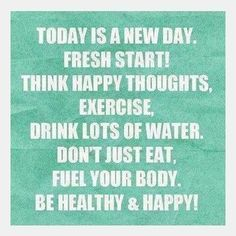 It doesn't matter what yesterday looked like. TODAY is a new day to be healthy. #workout #run #health #tips #success