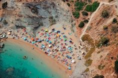 This is where Athenians go top play. Beautiful beaches adorn the Athenian coastline (also known as the Athenian Riviera). Red Beach, Beach Art, Planet Love, Greece Holiday, The Beautiful Country, Beaches In The World, Turquoise Water, Greek Islands, Where To Go
