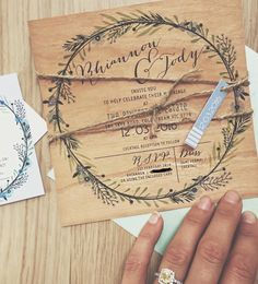 Adorable wedding invites! For every order a tree is planted http://www.lilykiss.com.au