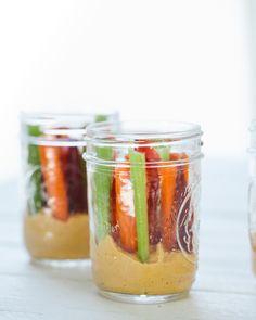 Hot Wings Hummus Jars