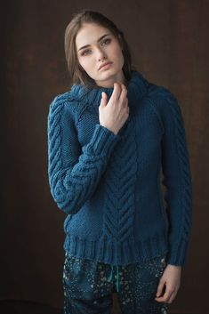 If you're like me and also have a short knitting attention span, the Compass Points Pullover is the sweater for you. It's knit from the top down, so you can try it on as you go. Cable Knitting, Sweater Knitting Patterns, Attention Span, Just Give Up, Compass, Knitwear, How To Make, How To Wear, Pullover