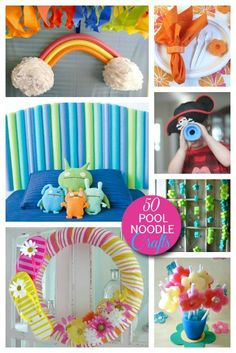50 Pool Noodle Games and Uses - fun for party activities and decorations! #crafts #party