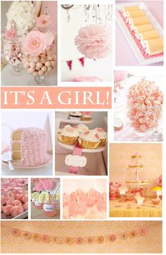 It's a girly girl! Cute baby shower idea, pictures and template for your princess' party Peach Baby Shower, Idee Baby Shower, Fiesta Baby Shower, Shower Bebe, Shabby Chic Baby Shower, Girl Shower, Shower Party, Baby Shower Parties, Baby Shower Themes