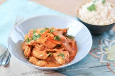 Penang (also called Panang) curry is a mild and nutty type of curry which is basically made up of a Thai red curry with the addition of Peanut Butter. This is an easy going curry with a deep and filling flavour brought about from the peanut butter. Our recipe is a simple one which uses ready made Thai red curry paste.