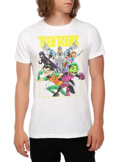 DC Comics Teen Titans Group Slim-Fit T-Shirt | Hot Topic