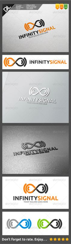 Infinity Signal — Vector EPS #network #tower • Available here → https://graphicriver.net/item/infinity-signal/8274962?ref=pxcr
