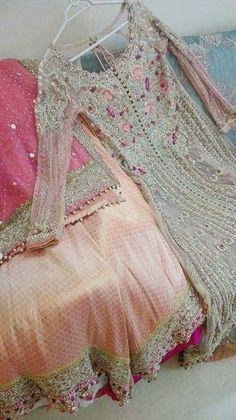 Wedding bridal lahnga dabka nagh zari cutwork and threads work Model – Nameera by FarooqBuy discount womens party wear in Pakistan at Oshi. Book Online comport womens party wear in Karachi, Lahore, Islamabad, Peshawar and All across Pakistan. Shadi Dresses, Pakistani Formal Dresses, Pakistani Wedding Outfits, Bridal Outfits, Indian Dresses, Indian Outfits, Pakistani Clothing, Pakistani Party Wear, Indian Party Wear