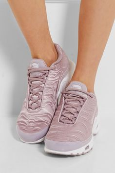 official photos 5ebc7 3341f Nike - Air Max Plus leather-trimmed matelassé satin sneakers