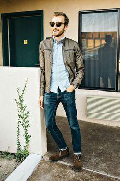 September 28, 2013. Jacket: Forever 21 - $34Shirt:Rhodes Collar Oxford-BonobosJeans -American Eagle- $39Boots: Cooper - Robert Wayne (...
