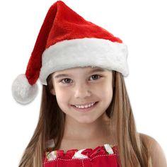 Funny LONG RED FELT SANTA HAT White Claus Adult Christmas Cap Elf Night Stocking
