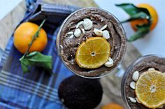 Chocolate mousse Kitchen Stories, Acai Bowl, Mousse, Lime, Pudding, Chocolate, Fruit, Eat, Breakfast