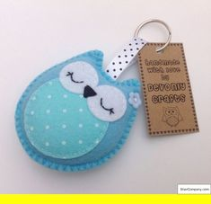 Best 12 Felt keyring with elephant Felt Crafts Patterns, Felt Crafts Diy, Owl Crafts, Felt Diy, Clay Crafts, Felt Keychain, Diy Keyring, Felt Owls, Felt Decorations