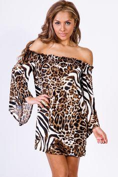 Off Shoulder Kimono Sleeve Retro Party Mini Dress | LaModeMa - Women's Fashion & Clothing Shop
