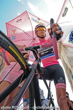 2012 Giro d'Italia Photos - Stage 8 - Hesjedal.   photo Copyright © 2012 RCS Sport