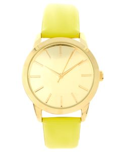 Buy ASOS Patent Colour Watch at ASOS. With free delivery and return options (Ts&Cs apply), online shopping has never been so easy. Get the latest trends with ASOS now. Asos, Shades Of Yellow, Mellow Yellow, My Favorite Color, Favorite Things, Latest Fashion Clothes, Gold Watch, Color Pop, Women Jewelry