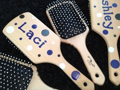 Paddle Brushes Decorated with Vinyl