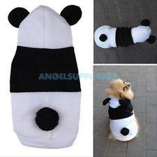 Cute Pet Dog Puppy Cat Fleece Panda Hoody Clothes Pullover Coat Costume Apparel