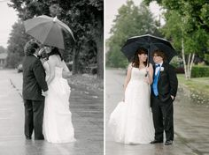Katia Taylor Photography, Toronto Wedding, raining, umbrella