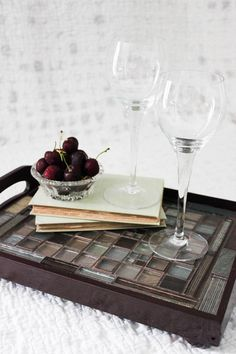 For a DIY craft project, tile can be a show-stopper. There are so many material options for decorating with tile, and we love the way it updates an affordable serving tray!
