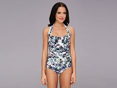 Badgley Mischka Women's Fiona Shirred Halter Maillot Polyster/Yoryu 8   Special Offer: $55.99      244 Reviews Badgley Mischka Swimwear Size Chart Set yourself up for resort-ready luxury with this stunning Badgley Mischka® one-piece swimsuit. A sophisticated maillot features lovely...