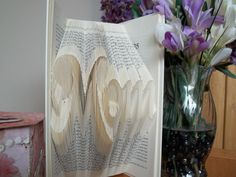 Folded Book Art Mom Book Sculpture Mother's Day by DreamIt on Etsy #craftshout0416