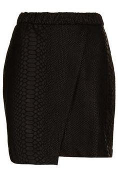 Black Snake Wrap Skirt