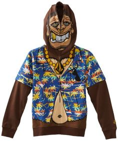 Volcom Monkey hoodie...zips all the way up!