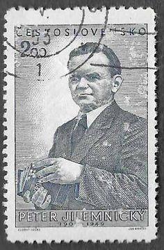 Czech Scott #492 - 2.00k - CTO. Peter Jilemnicky (1909-1949) Slovak writer , journalist , teacher and communist politician of Czech descent. Issued Dec 5, 1951 Catalog Value $0.40