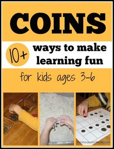 make learning fun with coins the measured mom Coin activities for preschool, kindergarten, and first grade Preschool Kindergarten, Preschool Learning, Preschool Activities, Kids Learning, Preschool Curriculum, Learning Centers, Money Activities, Teaching Activities, Teaching Math
