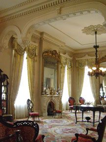 Stanton Hall Antebellum Home-Natchez, Mississippi - Parlor, interior room of Stanton Hall circa 1858 - Pinned Southern Plantation Homes, Southern Mansions, Southern Plantations, Southern Homes, Plantation Houses, Victorian Interiors, Victorian Furniture, Victorian Decor, Victorian Homes