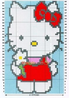 Click the image to enlarge Baby Boy Knitting Patterns, Baby Cardigan Knitting Pattern, Knitting Charts, Hello Kitty Crochet, Hello Kitty Baby, Graph Crochet, Pixel Crochet, Cross Stitch For Kids, Cross Stitch Baby