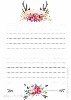 Boleh untuk menulis per paragraf Stationary Printable, Printable Paper, Planner Pages, Planner Stickers, Filofax Pocket, Diy And Crafts, Paper Crafts, Bullet Journal, Stationery Paper