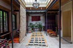 Vintage Moroccan rugs in our London showroom
