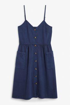 Front image of Monki denim dress in blue