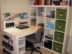 Ikea expedit desk/shelf workstation. by Julia Rosewale