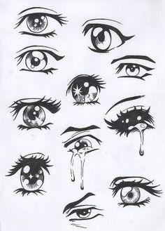 I always have trouble with the manga eyes!