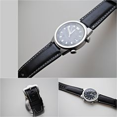 IWC Black Calfskin Custom Made Watch Strap - More sizes and colors available - On Order by ChristianStraps on Etsy Watch Model, Iwc, Watches, Soft Leather, Calves, How Are You Feeling, Etsy, Color, Accessories
