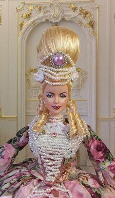 barbie muse ooak sexy marie antoinette collector repaint doll by imperialis httpwwwebaycomschimperialisooakdollssmhtml pinterest fashion - Barbie Marie