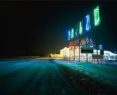 These photos of contemporary Poland are nothing short of breathtaking! Śląsk by Szymon Rogiński, photo from the Poland Synthesis cycle, photo: courtesy of the artist Sense Of Place, Contemporary Photography, My Heritage, Dark Backgrounds, Neon Lighting, Color Photography, Still Image, Landscape Photos, Night Time