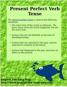 Present Perfect Verb Tense