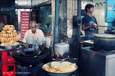 Street food master and student. Old Delhi Travel Photography