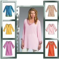 tunic patterns for sewing free | to make all the tunic variations pictured tunics are in 2 lengths and ...