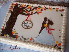 Fall Wedding Cakes | fall wedding sheet cake - by Corrie @ CakesDecor.com - cake decorating ...