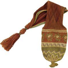 Antique Georgian Purse Sprang Woven Long Purse Stocking Purse 18th Century 1790-1800