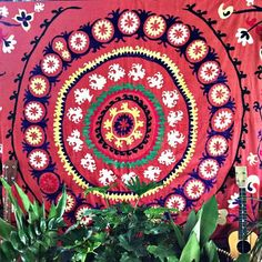 """""""Red and Yellow Frangipani"""" – Honorooroo Lifestyle Wool Thread, Chain Stitch, Beautiful Hands, Earthy, Tapestry, Yellow, Red, Things To Sell, Embroidery"""