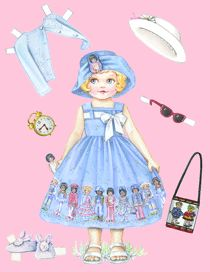Beautiful free printable paper dolls!!